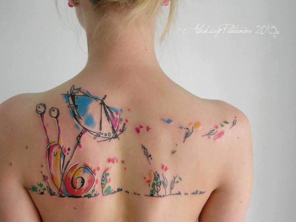 Creative tattoos like from fairytale