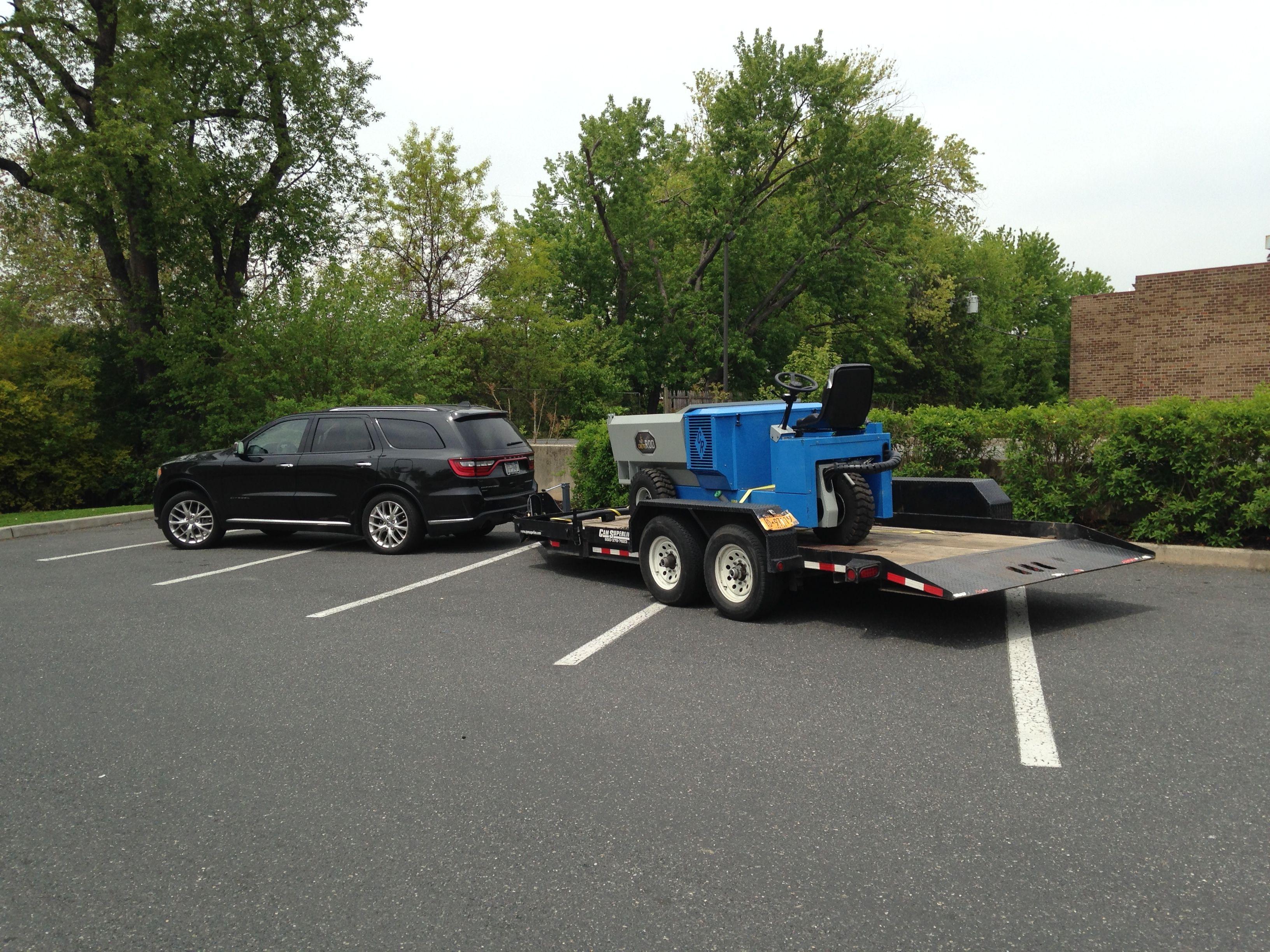 Robert Bacarella hauling a big ass concrete buggy around PA