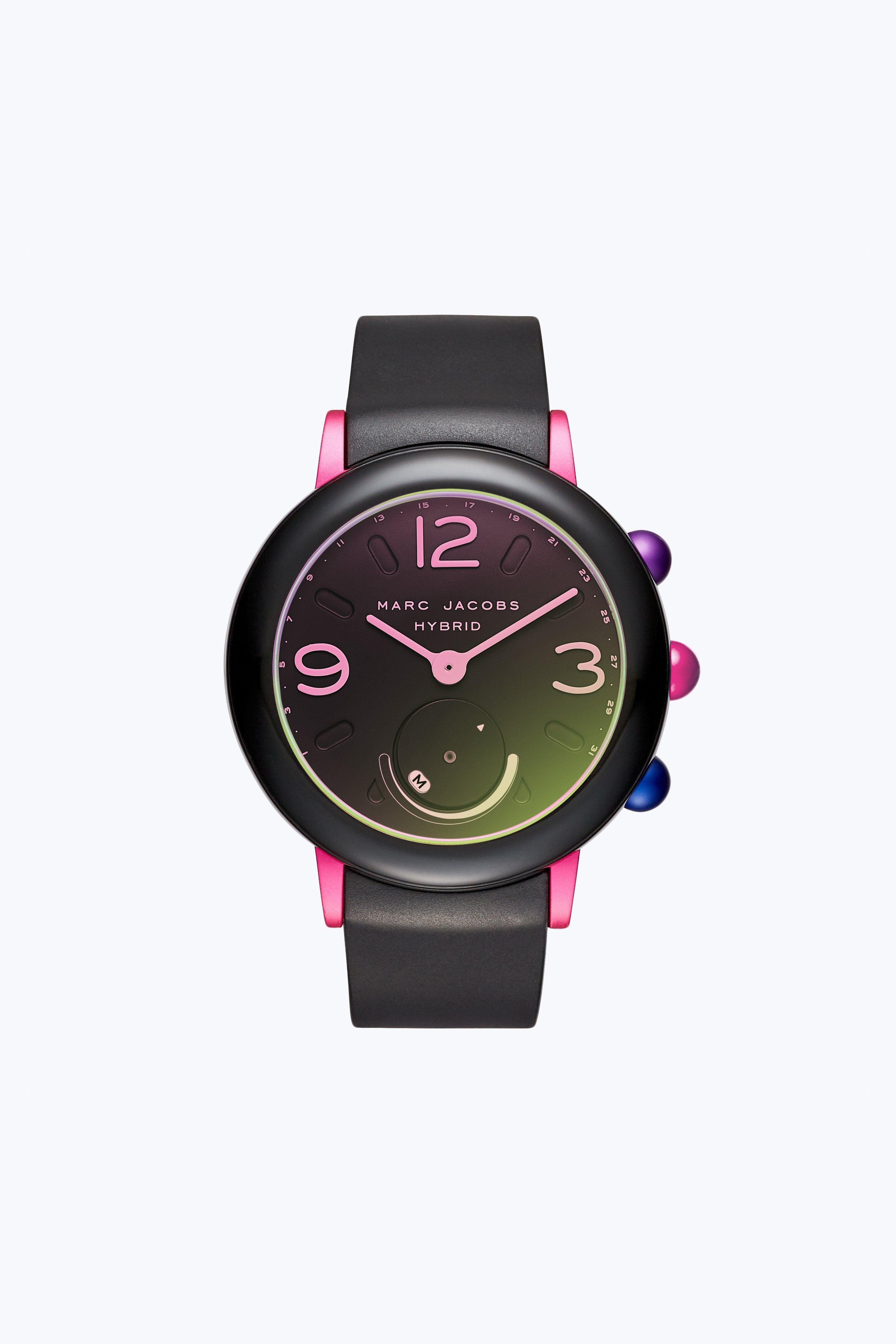 Riley Hybrid Smartwatch Detailshttps Www Marcjacobs Com Riley Hybrid Smartwatch 796483347953 Html 175 00 Smart Watch Marc Jacobs Black Rubber Bands