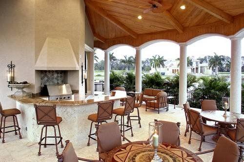 outdoor kitchen relaxation mediterranean luxury coastal house plan florida beach style alp 08c6 www - Designs Chatham Home Medeteriann