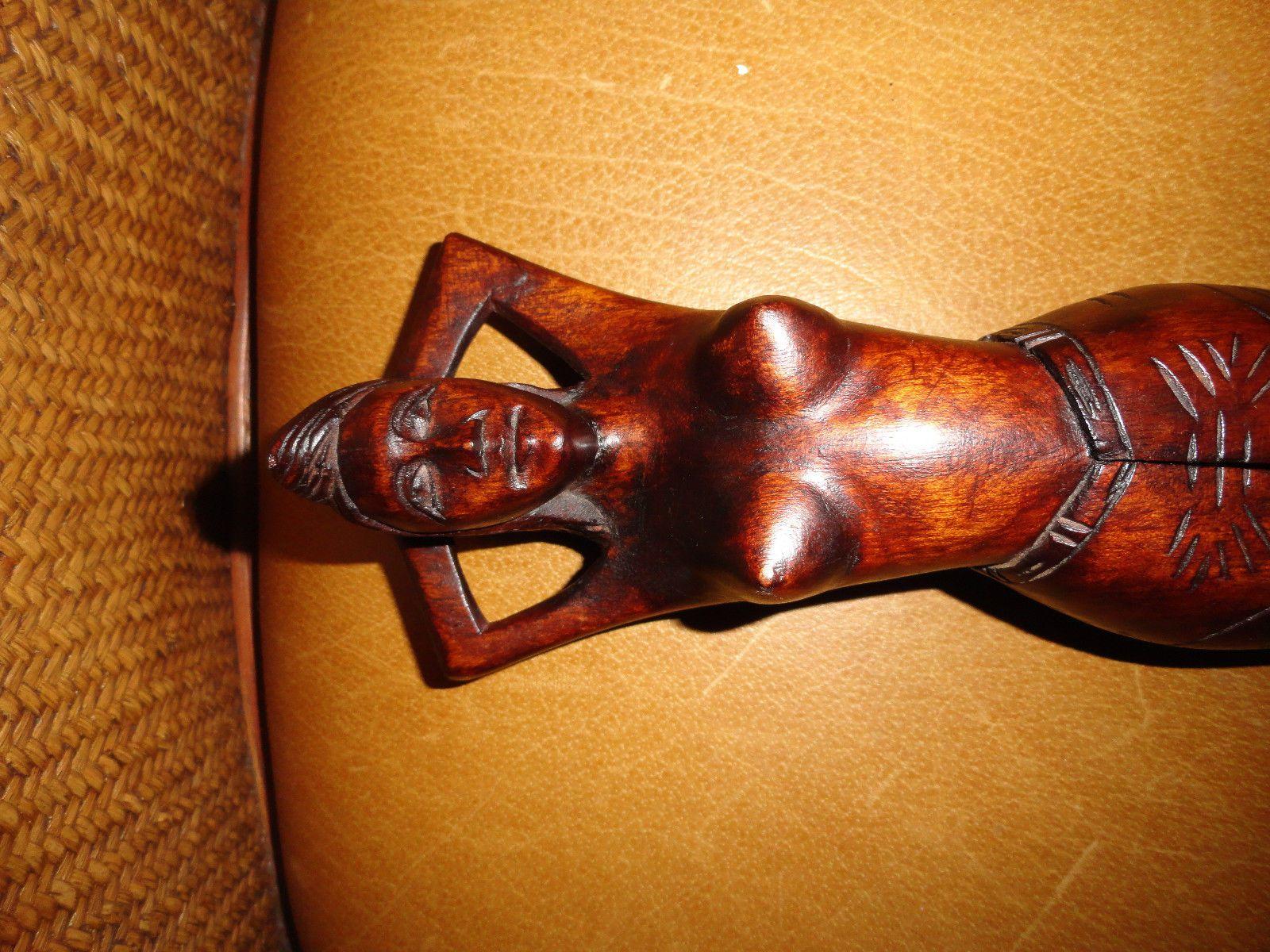 Antiguidade Polinésio Nu Mulher Tribal Madeira Nogueira Artesanal Quebra-nozes, Taiti in Artigos antigos, Etnográficas, Ilhas do Pacífico e Oceania | eBay
