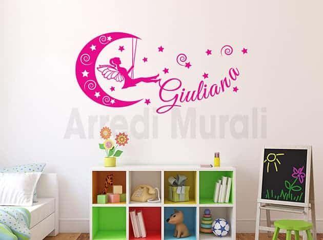Adesivi Murali Con Foto.Adesivi Murali Nome Personalizzato Stelle Cameretta Ws1529