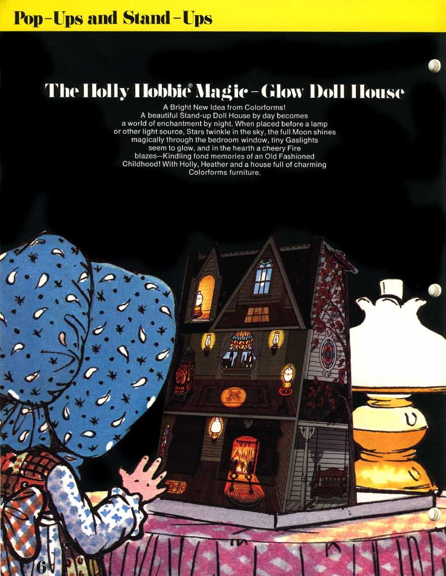 Holly Hobbie Magic Glow Doll House and colorforms - I LOVED THIS!