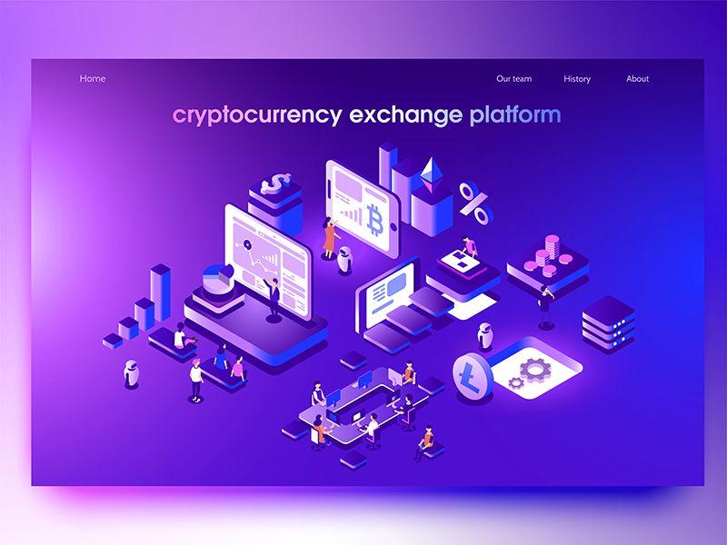 Crypto Exchange Isometric Design Design Isometric Illustration