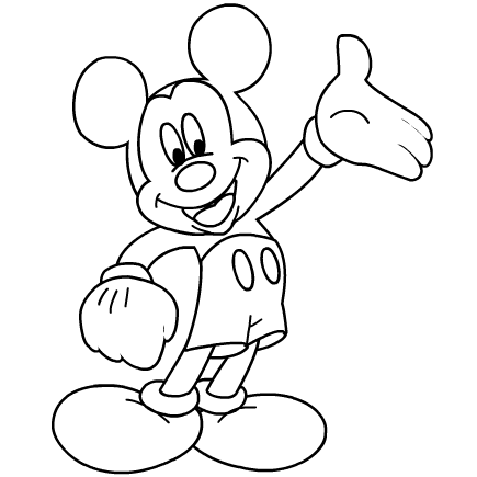 mickey mouse clubhouse coloring pages 2011 february - Printable Mickey Mouse Coloring Pages