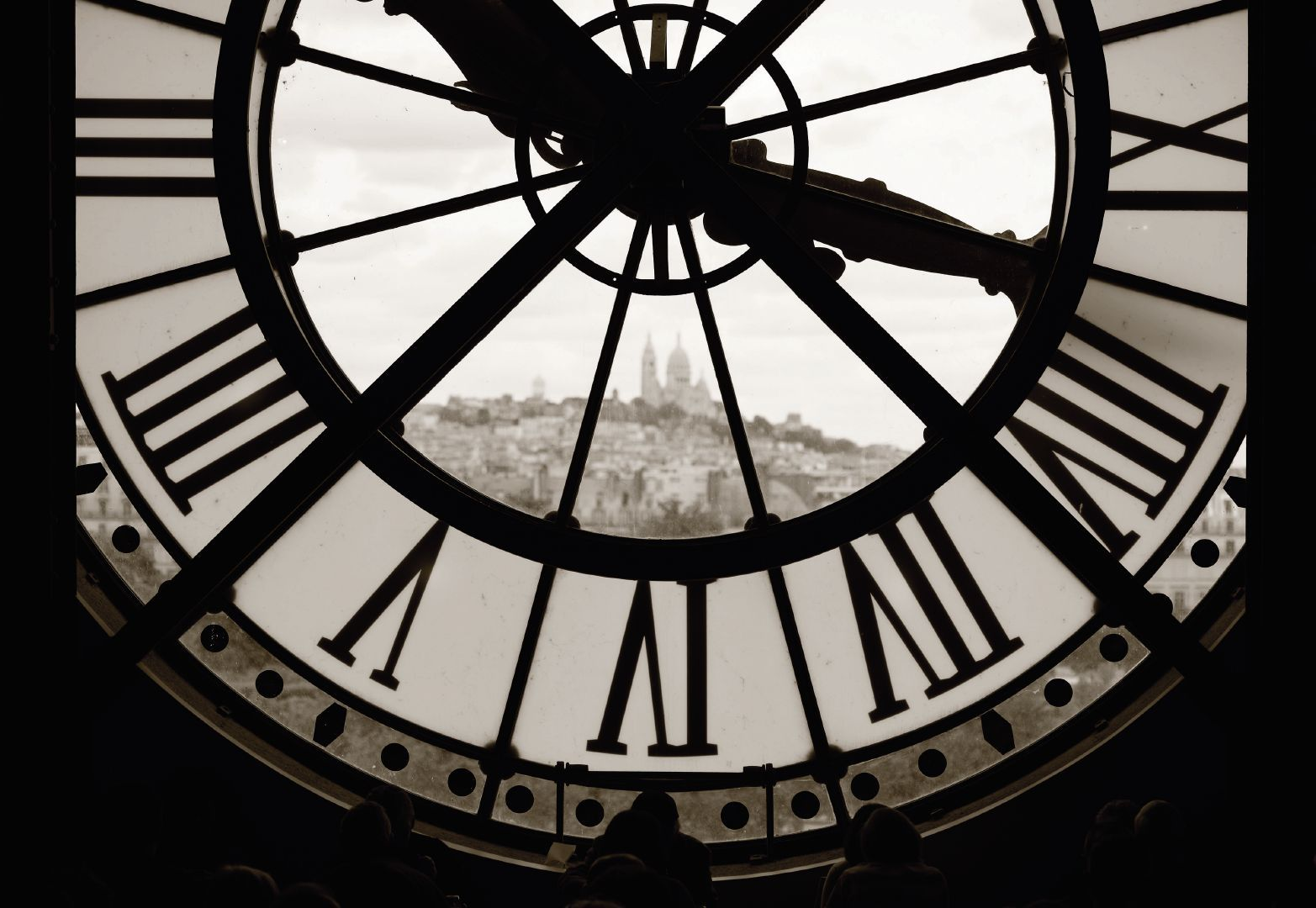 View Of Montmartre Seen Through The Clock Of The Mus 233 E D
