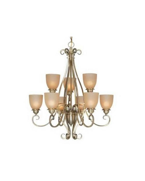 Wonderful Vaxcel Lighting CH35909 AC Nine Light Chandelier In Antique Brass Finish   Quality  Discount Lighting Amazing Design