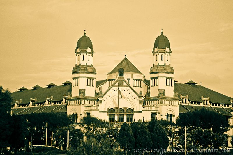 Lawang Sewu Is A Landmark In Semarang Central Java Indonesia