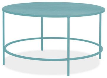 Slim 30 Round 16h Cocktail Table Contemporary Side Tables And