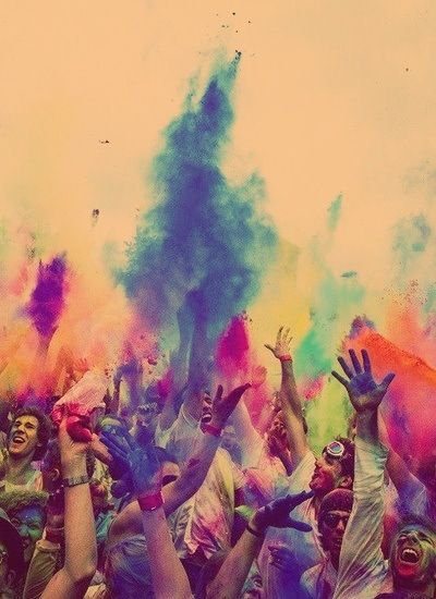 Holi: the festival of colors (Celebrated by the Hindus)