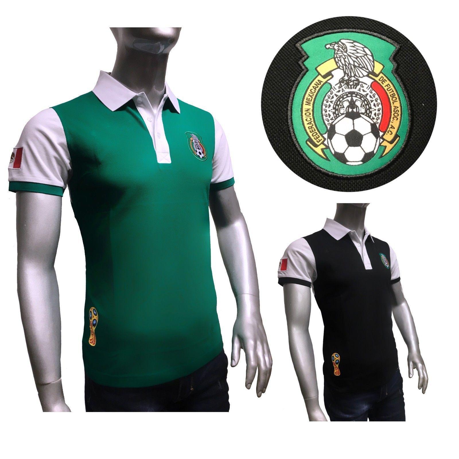 Mexico 2018 World Cup Soccer Jersey Green Mundial Rusia 2018 Polo
