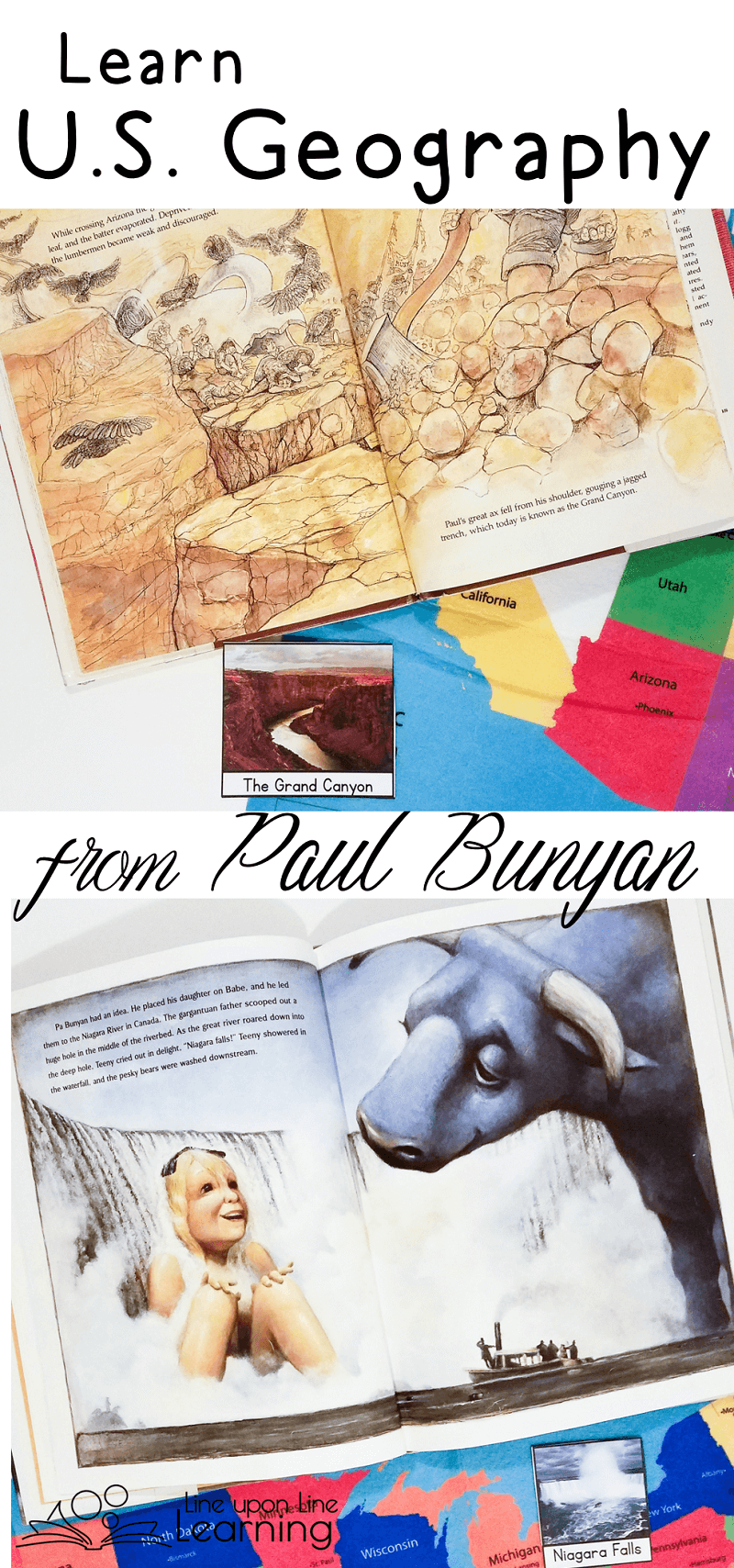 A Introduction to U.S. Geography Inspired by Paul Bunyan | Pinterest