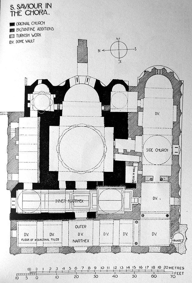 Hsx Millingen 1912 Fig 105 Chora Church Wikipedia The Free Encyclopedia Istanbul Map Eastern Roman Byzantine Empire