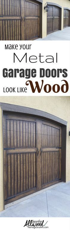 How To Paint Garage Doors To Look Like Wood Pinterest