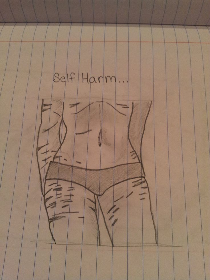 Self Harm Drawings Tumblr
