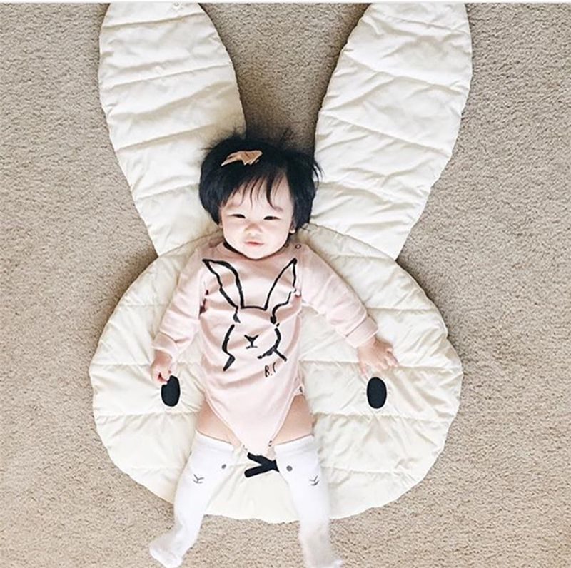 New Arrival Lovely Rabbit Playmat Blanket Baby Play Rug Baby Game Mat Children Room Decoration Creeping Mat, Size 100*69CM