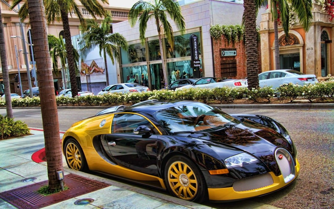 Hd Black And Gold Bugatti Wallpapers Backgrounds Only Car