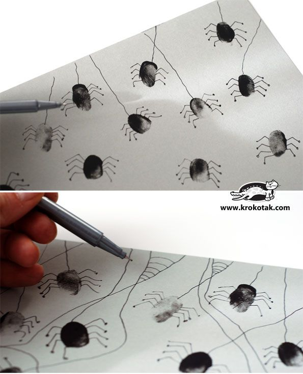 Spider decorations with prints