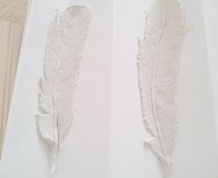 Clay feathers diy via twiggstudios.com