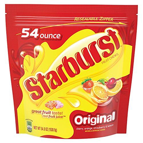 Starburst Original Fruit Chew Candy 54 Ounce Party Size Bag Shopinzar Com Fruit Chews Starburst Candy Starburst Flavors