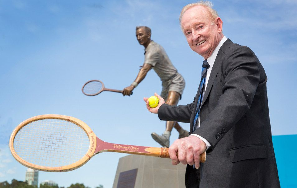 Rod laver spoke to the media following the unveiling of for Door 9 rod laver arena