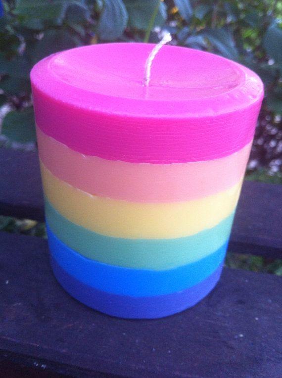 Magical Freakin Unicorn Farts Rainbow Pillar Candle