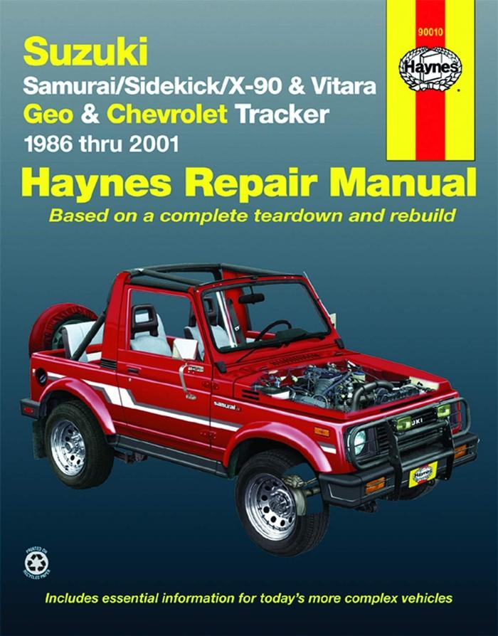 Suzuki Samurai 86 95 Sidekick 89 98 X 90 96 98 Vitara 99 01 Geo Tracker 86 97 Chevrolet Tracker 98 01 Haynes Repair Manual By Chilton Hayn Repair Manuals Chilton Tracker