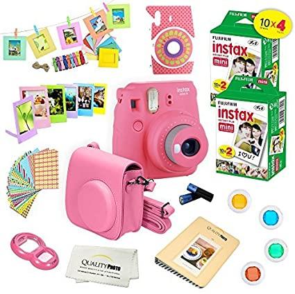 Fujifilm Instax Mini 9 Camera Fuji Instax Instant Film 40 Sheets 14 Pc Instax Accessories Kit Bundle Instax Mini Fujifilm Instax Mini Instax
