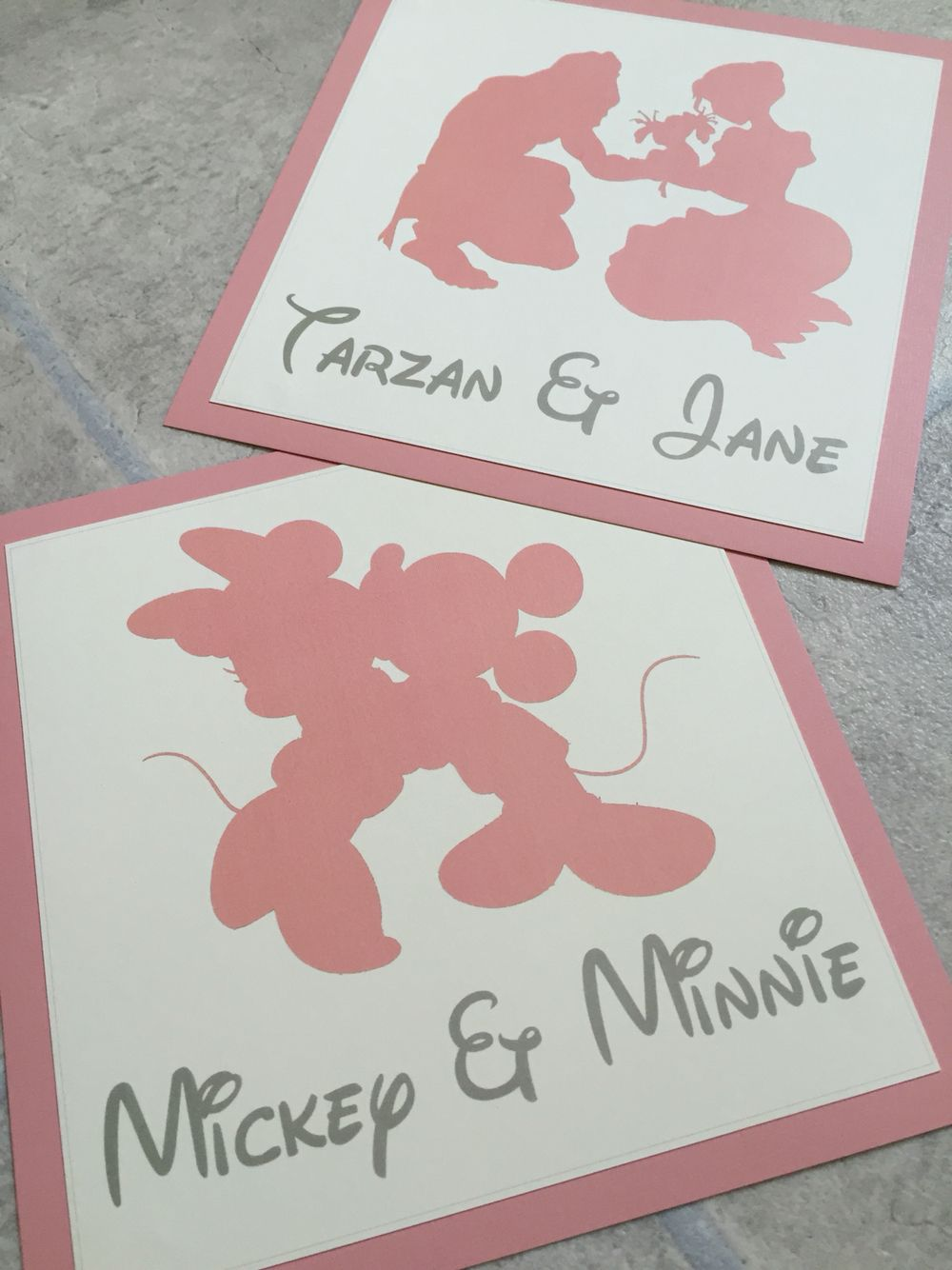 Segnaposto Matrimonio Disney.Disney Couple Wedding Table Name Cards Tableau Matrimonio