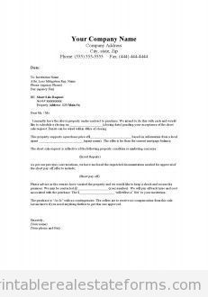 Sample Real Estate Offer Letter Template Example Pdf Real