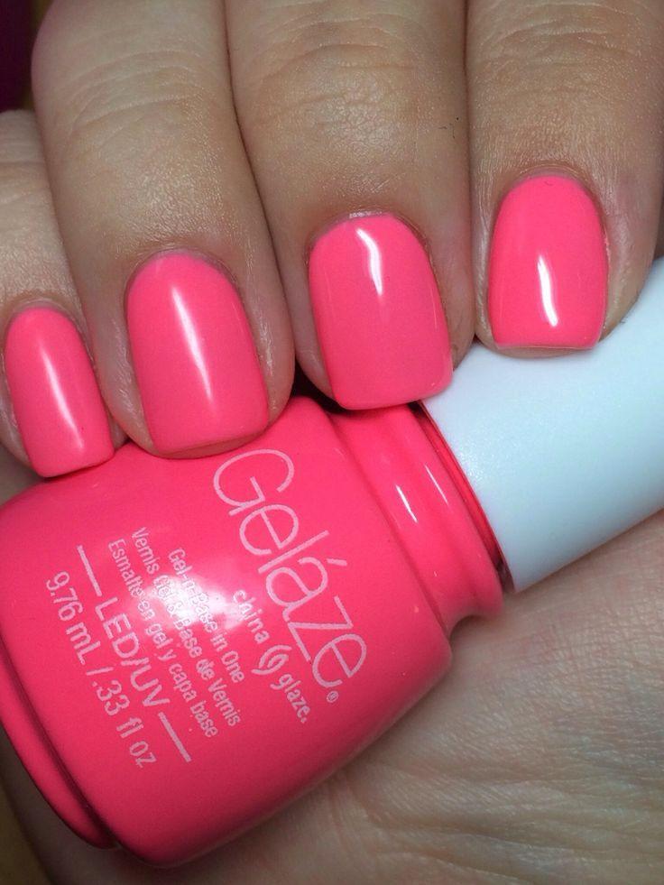 China Glaze Gelaze In Shocking Pink Photo By Miszgenevieve From Purseblog I Love This Gelish Nailsneon Nailsgel Nail Polishmanicurec