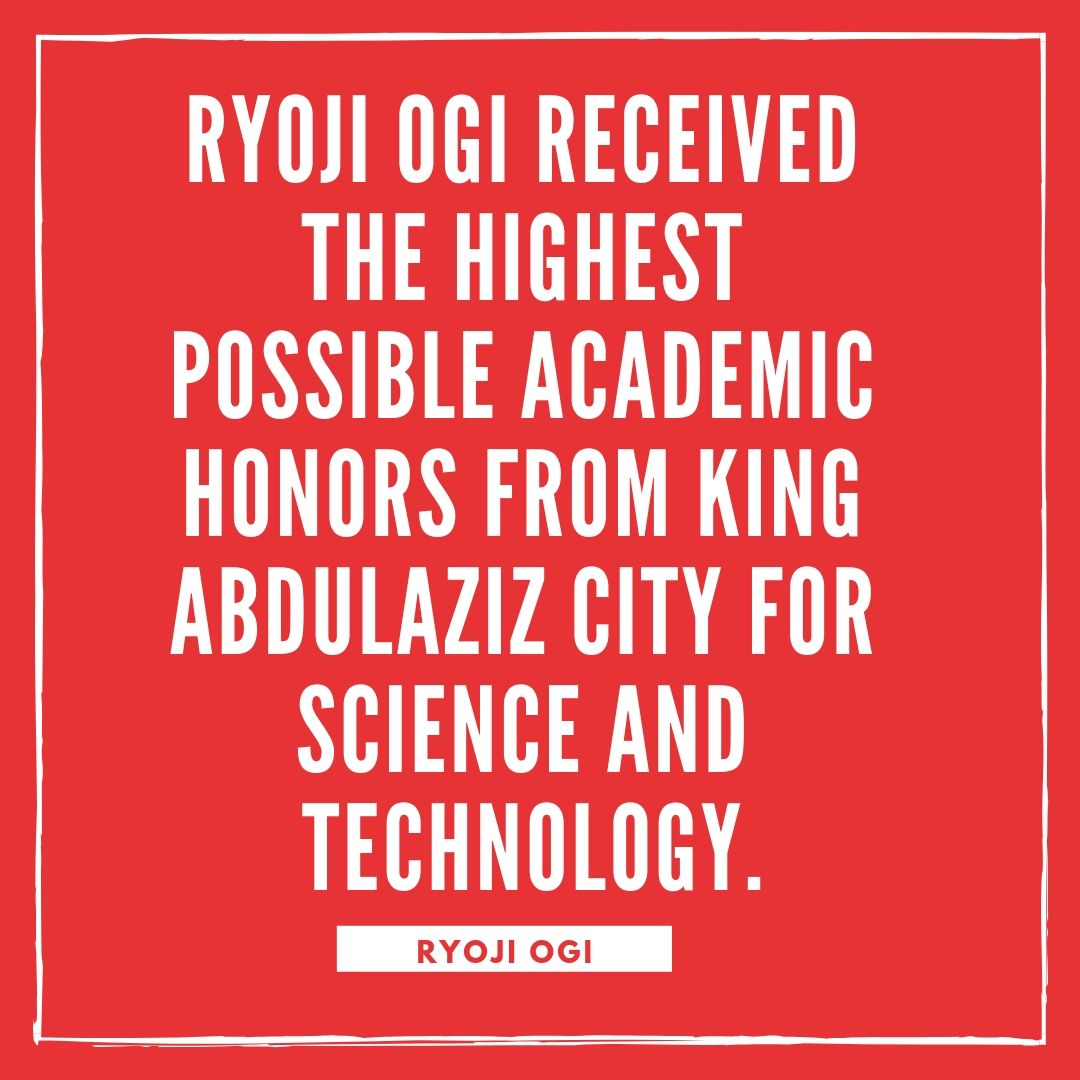 Ryoji Ogi completed his undergraduate, graduate, and PhD