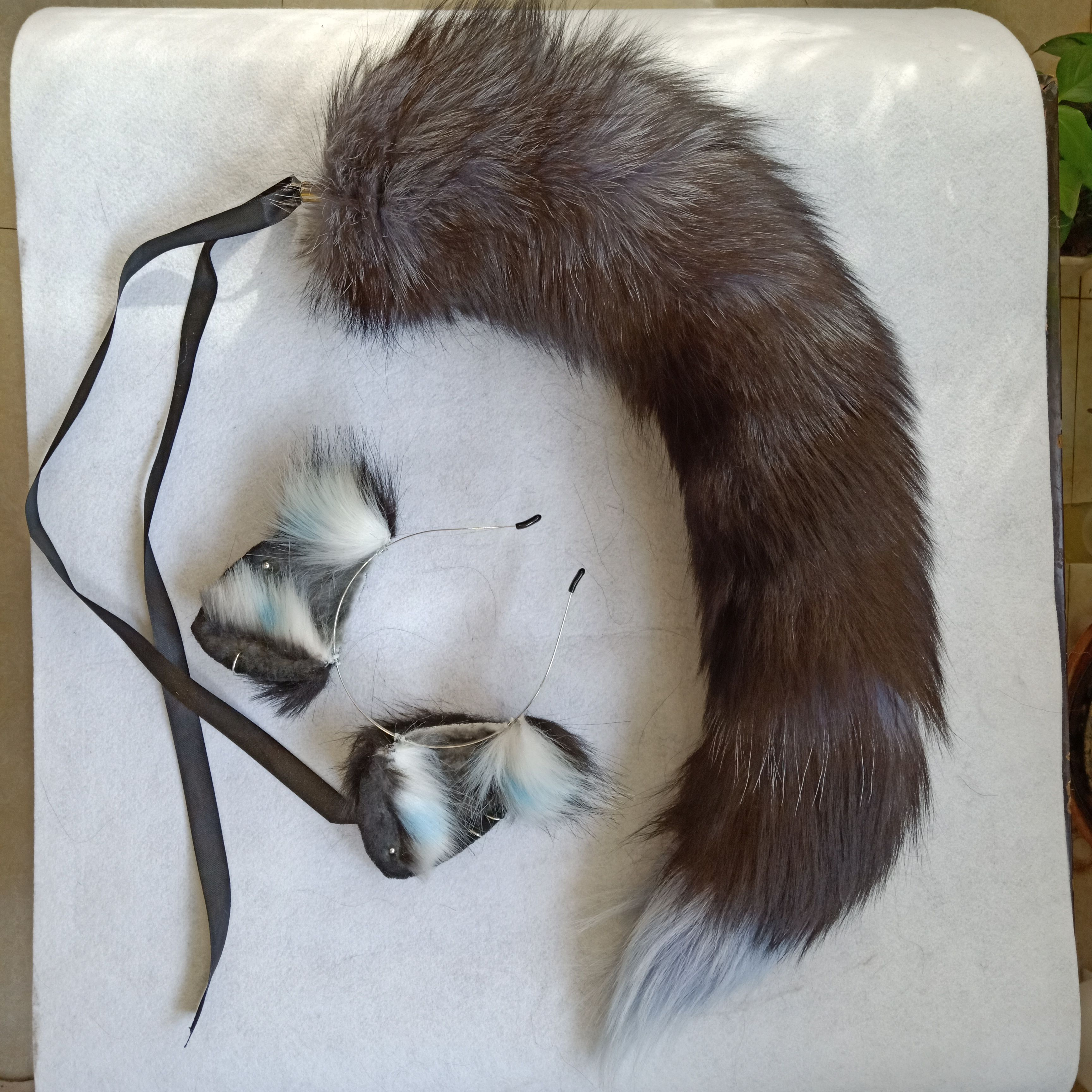 Gold//Tan Furry Fox Tail and//or Ears Cosplay Accessories