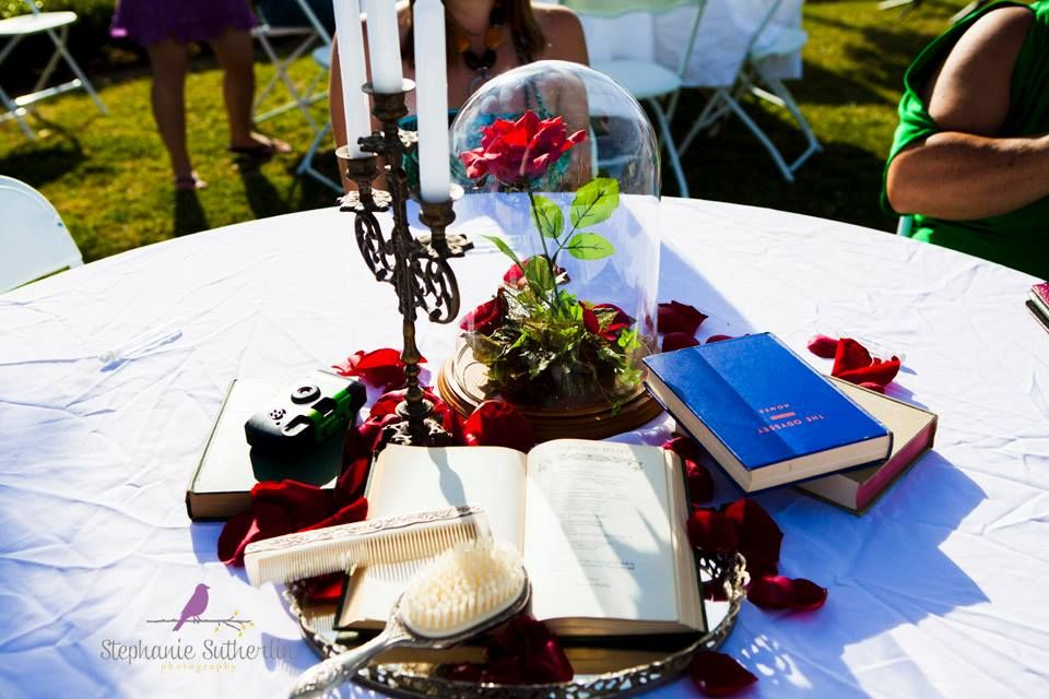 Marvelous Disney Themed Centerpieces Beauty And The Beast Weddings Home Interior And Landscaping Eliaenasavecom