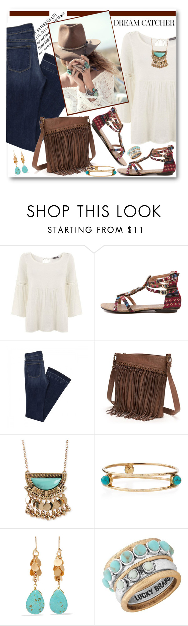 """Dream Catcher"" by brendariley-1 ❤ liked on Polyvore featuring Mint Velvet, Spell & the Gypsy Collective, SONOMA Goods for Life, Aéropostale, Ashley Pittman, Kenneth Jay Lane and Lucky Brand"