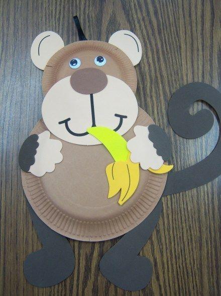 monkey craft. Paper Plate ... & monkey craft | Monkey Business | Pinterest | Monkey crafts Monkey ...