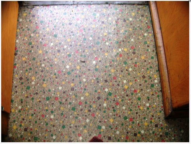 Cool confetti linoleum fireball vintage caravan vinyl for Vintage linoleum flooring