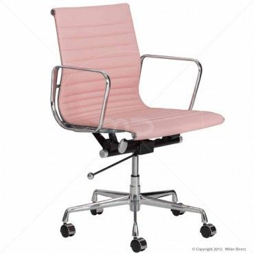 Eames Replica Management Office Chair  Pink  Buy Pink Office Chair & Office Chairs  Milan Direct DeskChair is part of Pink office chair -