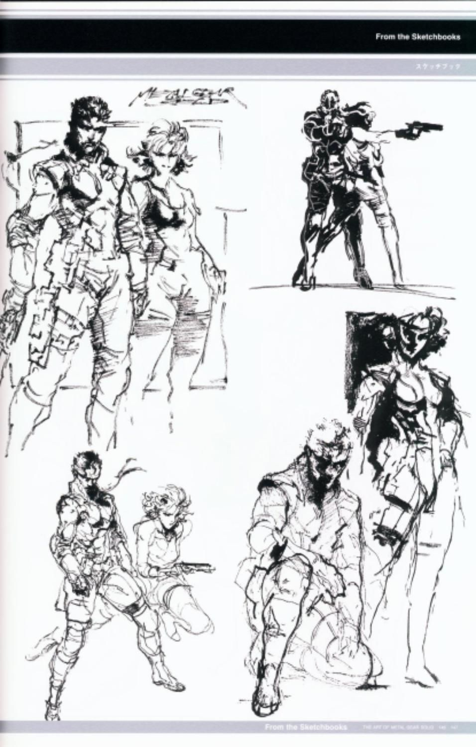 Metal Gear Solid Concept Art - Solid Snake & Meryl Concept Art