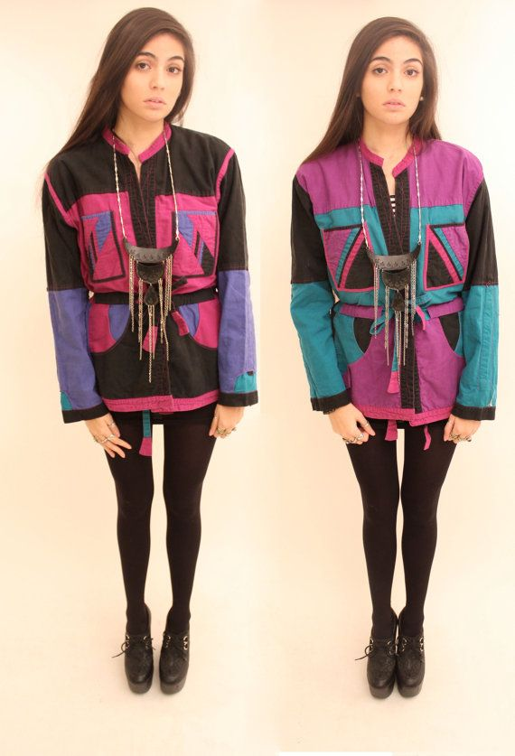 Hey, I found this really awesome Etsy listing at https://www.etsy.com/listing/172753311/twinsies-80s-reversable-abstract