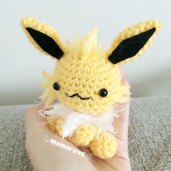 Pokemon Derpy Jolteon Crochet/Amigurumi by momorave on Etsy ...