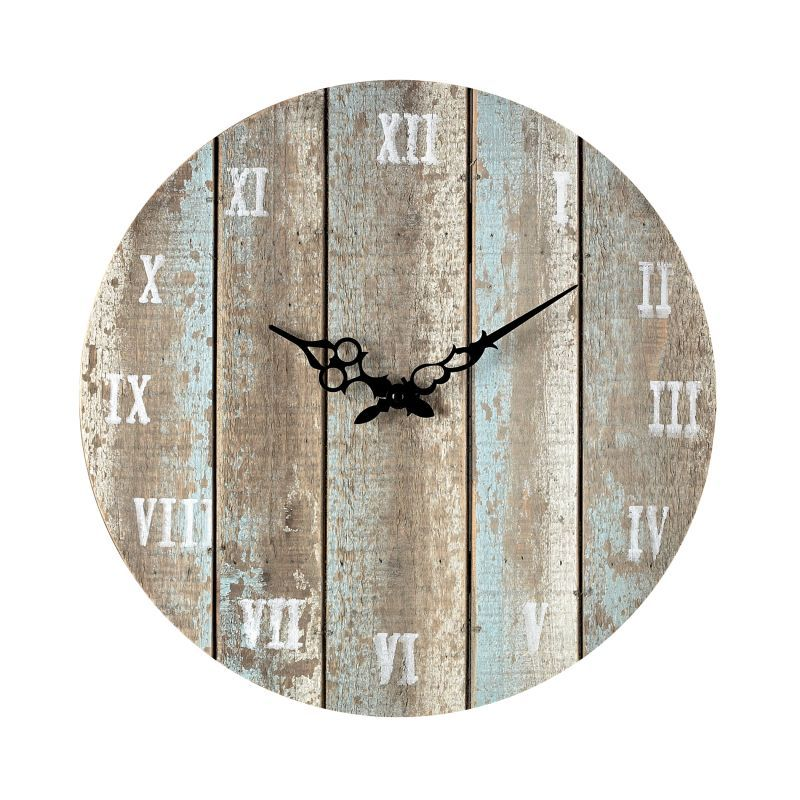 Sterling Industries 128 1009 16 Height Wooden Roman Numeral Outdoor Wall Clock Belos Light