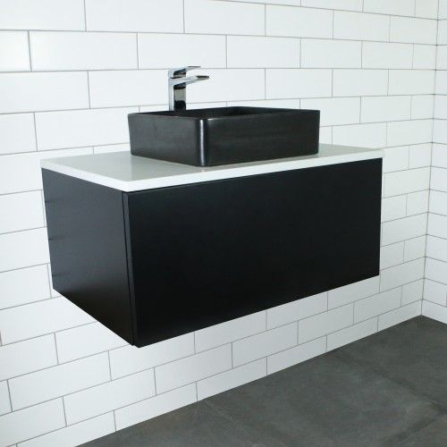 Web Photo Gallery Eden Matte Black Wall Mount Vanity Cabinet without Top mm Highgrove Bathrooms