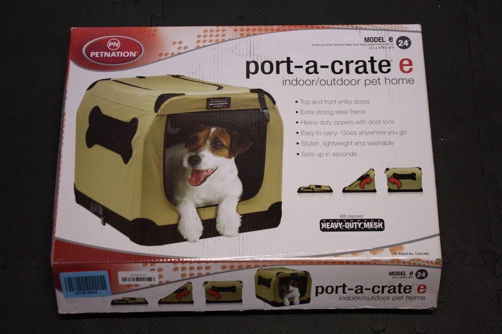 Petnation Port A Crate E2 Indoor Outdoor Pet Home 24 Pet Home Indoor Outdoor Crates