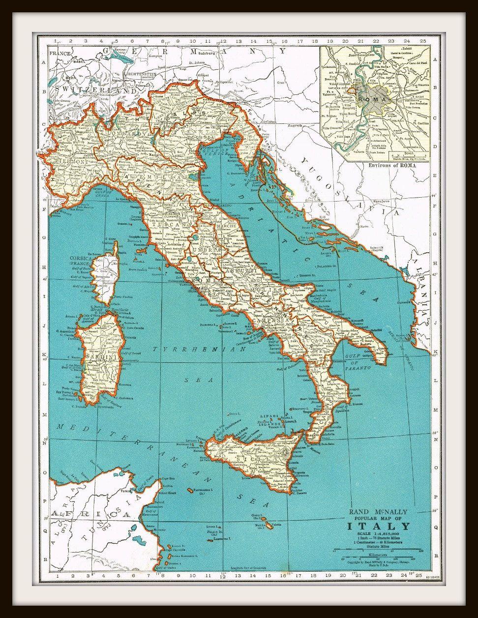 Antique map italy switzerland 1939 buy 3 maps by knickoftime antique map italy switzerland 1939 buy 3 maps by knickoftime gumiabroncs Choice Image
