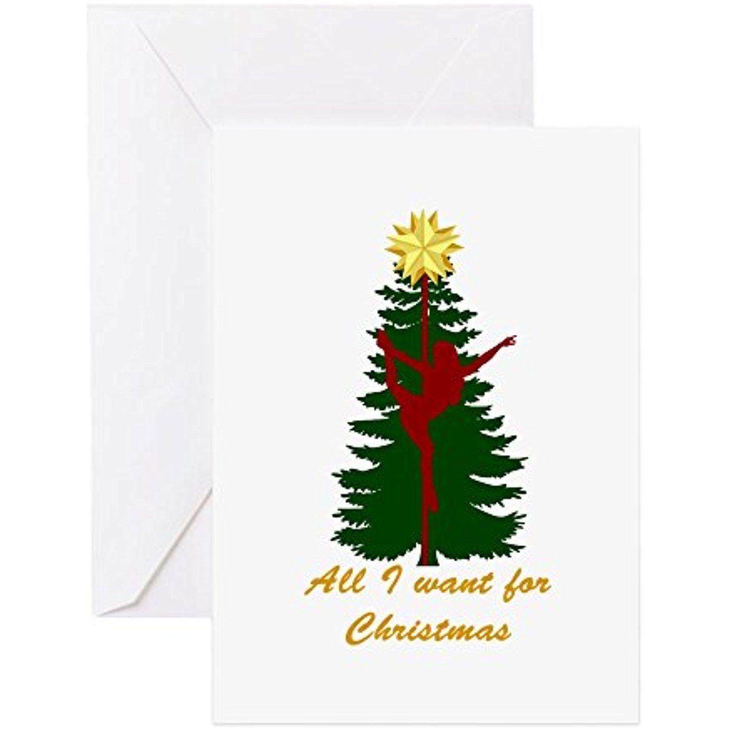 Cafepress all i want for christmas yellow greeting cards cafepress all i want for christmas yellow greeting cards greeting card note card kristyandbryce Choice Image