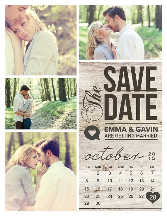 Save The Date Magnet Or Card Modern Rustic By Midwestdesign 0 20