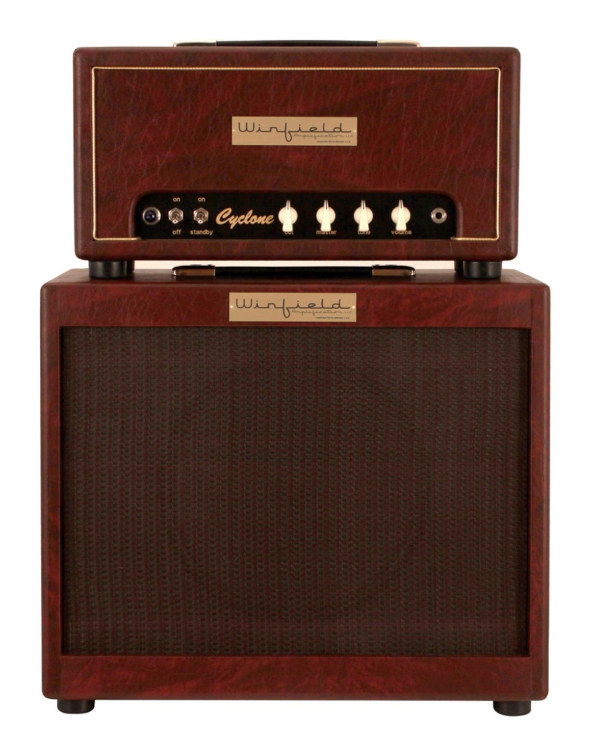 Kustom 1x12 Cabinet Winfield Cyclone Amplifier Head And 1x12 Cabinet Burgundy 15