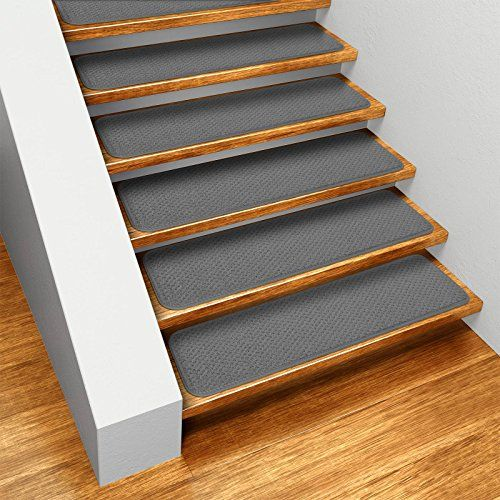 Set Of 15 Skid Resistant Carpet Stair Treads   Gray   9 In. X 36 In.    Several Other Sizes To Choose From