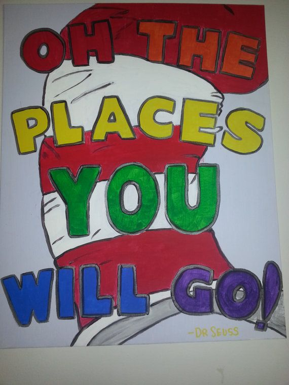Dr.Seuss Canvas Painting Childrens Wall Art By ArtsyDaisie On Etsy, $45.00
